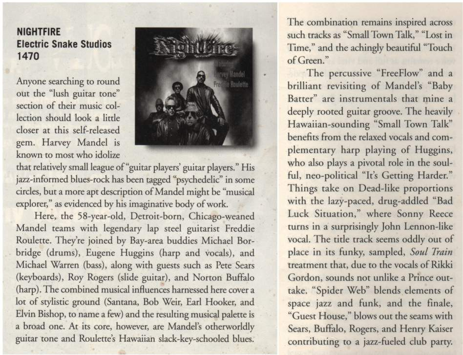 Blues Review Magazine Nightfire Review