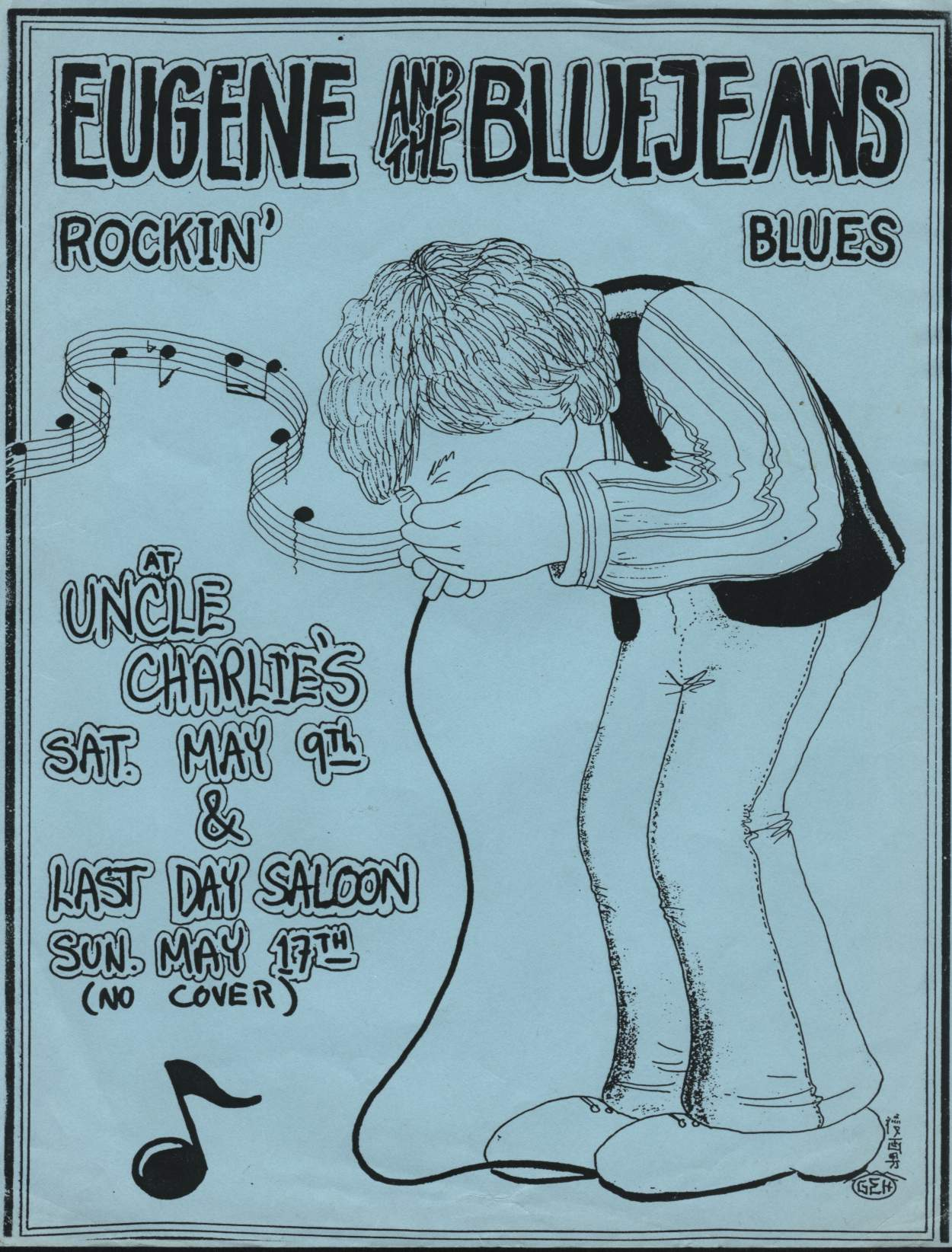 Eugene & The Bluejeans Poster for Uncle Charlies
