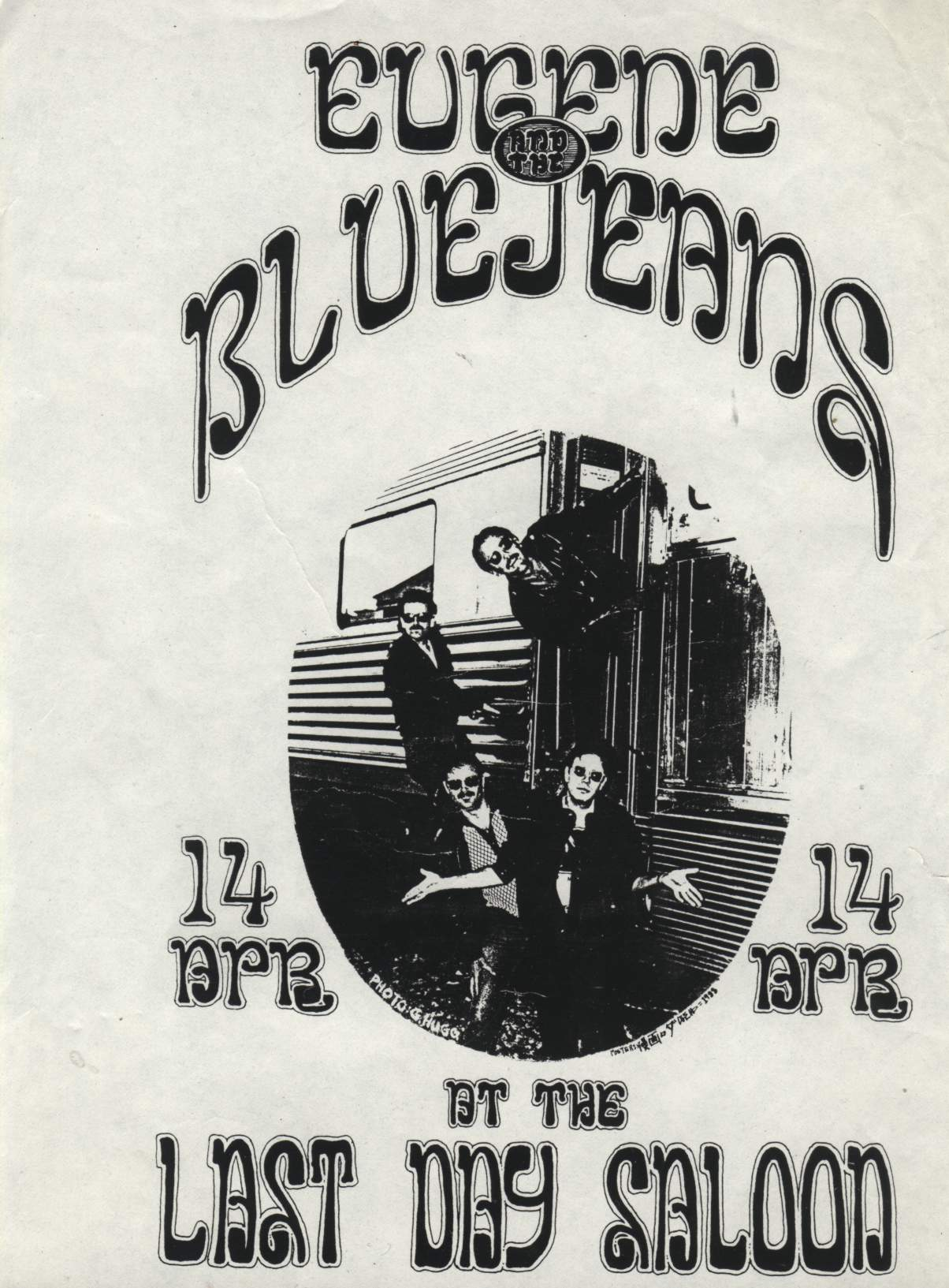 Eugene & The Bluejeans Last Day Saloon Poster
