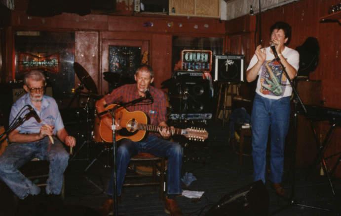 At the Maple Leaf Bar in New Orleans with Spider John Keorner & Mr. Bones