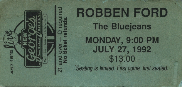 Robben Ford Ticket
