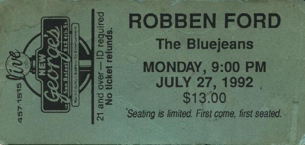 Robben Ford Ticket